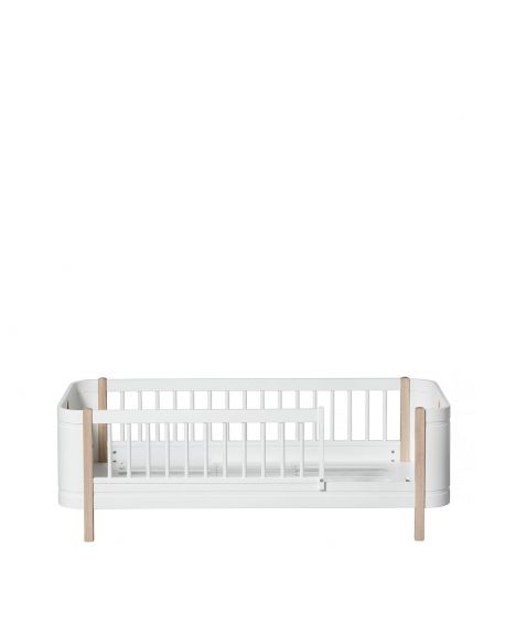 Oliver Furniture - Wood Mini+ junior bed - 68x162cm - white/oak