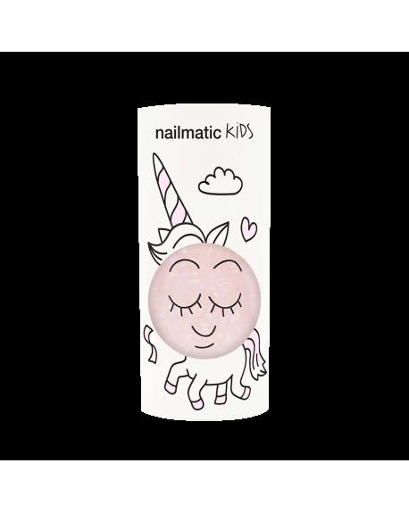 Nailmatic - Vernis à ongle à l'eau - Polly rose transparent à paillettes