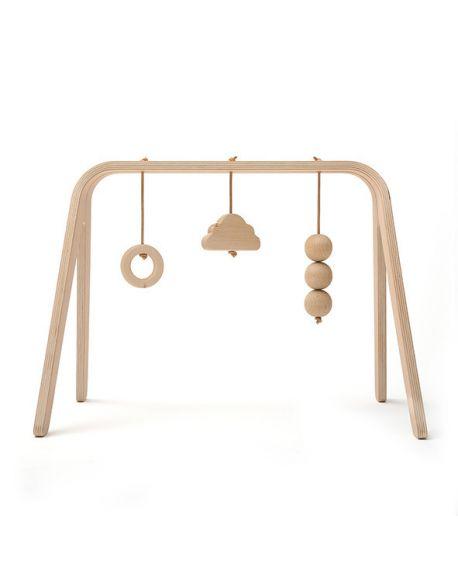 CHARLIE CRANE - Arche d'éveil Naho avec jouets en bois