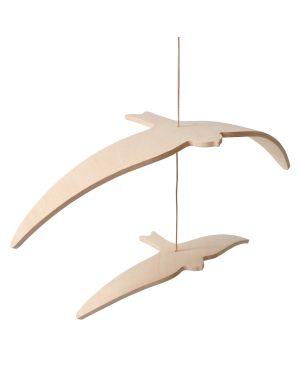 CHARLIE CRANE - Mobile Hirondelles Kano Birds en bois