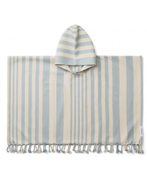 Liewood - Roomie poncho - Sea Blue/Sand - 1 to 2 Y