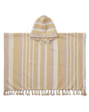 Liewood - Roomie poncho - Peach/sandy/yellow mellow - 1 to 2 Y