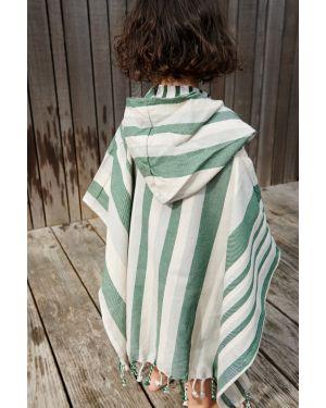 Liewood - Poncho Roomie - vert/bleu - 1 à 2 ans