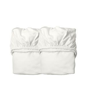 LEANDER- Lot de 2 draps housse - 40 x 80 x 10 cm - Blanc - Cotton Organique