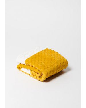 Elva Senses - Baby Mustard & White Sensory Bubble Blanket