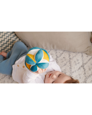 Elva Senses - Montessori Ball Dark Teal/Mustard