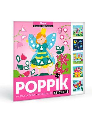Poppik - Cartes Stickers Animaux - Pack de 6