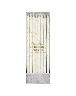Meri Meri - Gold Glitter Candles (set of 24)
