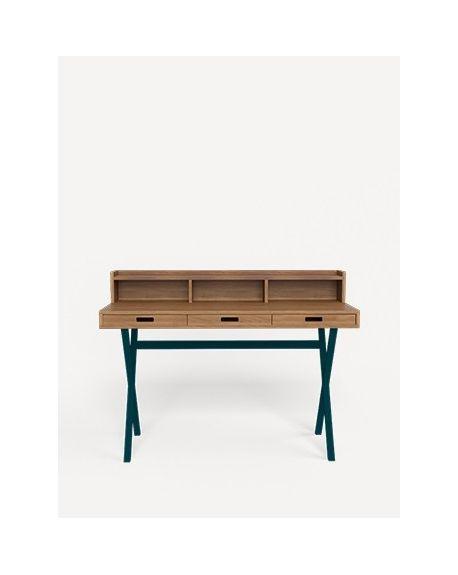 Harto - Walnut Hyppolite Desk - White
