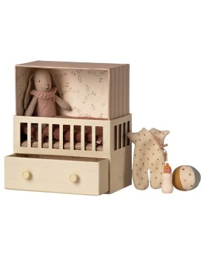 MAILEG - Chambre bébé avec micro lapin
