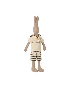 MAILEG - Rabbit taille 2, Marin - Blanc cassé/pétrole