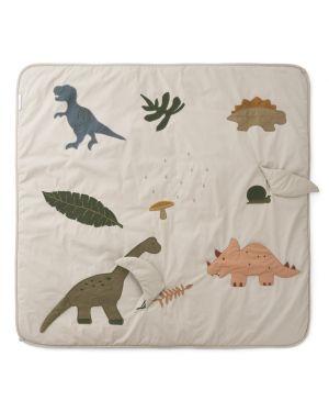 Liewood - Gleen activity blanket - Dino Dark Sandy Mix