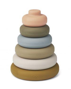 Liewood - Dag stacking tower - Khaki multi mix