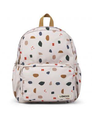 Liewood - James school backpack - Geometric foggy mix