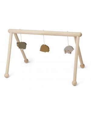 Liewood - Arche d'éveil en bois avec jouets - Animaux mix
