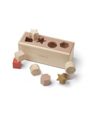Liewood - Puzzle en bois Midas - Geometric rose toscane