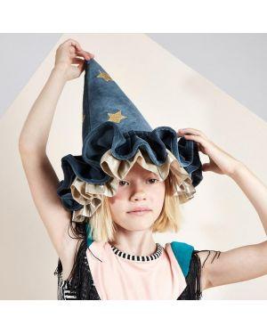 Meri Meri - Déguisement Chapeau magicien sorcière bleu pointu