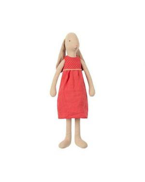 MAILEG - Bunny taille 3 - Robe Rouge (Rose Bonbon)