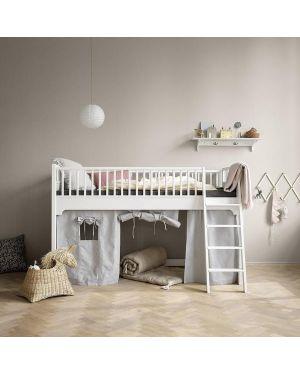 Oliver Furniture - Seaside - Lit mezzanine mi-haut, blanc - Low Loft Bed, white