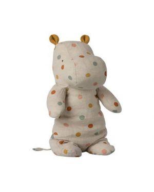 MAILEG - Safari Friends - Medium hippo - Multi dot