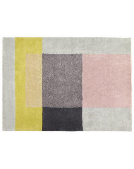HAY-TAPIS COLORE 05-Gris, rose, jaune