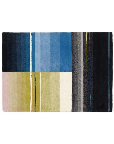 HAY-TAPIS COLORE 01-Noir, turquoise, jaune