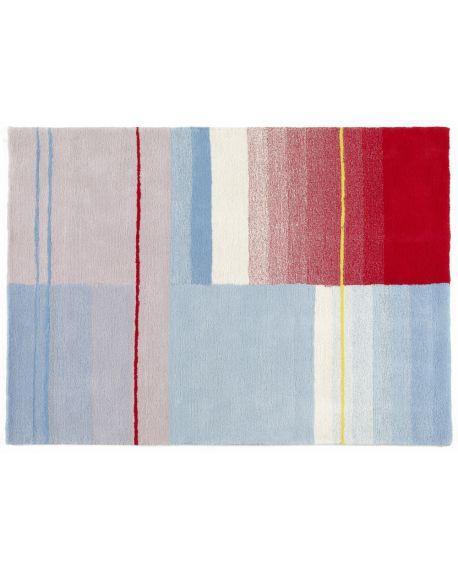 HAY-TAPIS COLORE 02-Bleu ciel, rouge, crême