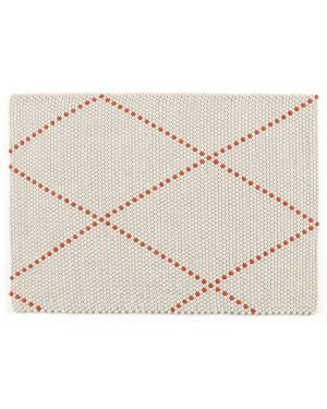HAY - DOT CARPET POPPY RED - Tapis boules de laine - 100 x 80 cm