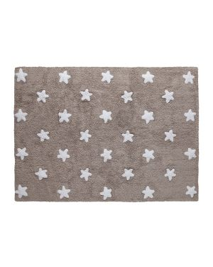 LORENA CANALS - COTON RUG STARS - BEIGE WITH CREAM STARS - 120 x 160 cm