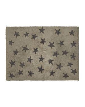 LORENA CANALS - COTON RUG STARS - BEIGE WITH DARK GREY STARS - 120 x 160 cm