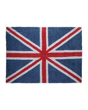 LORENA CANALS - COTON RUG FLAG UK - CLASSIC BLUE/RED 140 x 200 cm