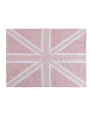LORENA CANALS - COTON RUG FLAG UK - Pink 120 x 160 cm