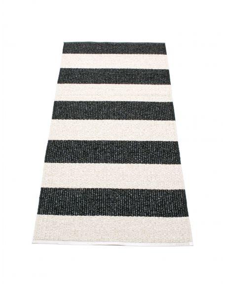 PAPPELINA - BOB BLACK/VANILLA - Design plastic rug 5 Dimensions