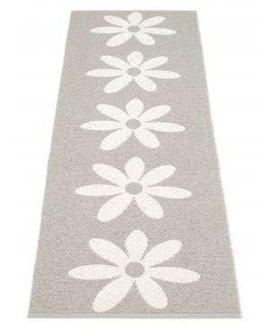 PAPPELINA - LILO GRIS CHAUD ET VANILLE - Tapis design en plastique 4 tailles disponibles