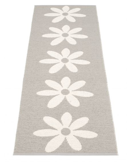 PAPPELINA - LILO WARM GREY AND VANILLA - Design plastic rug - 4 sizes available