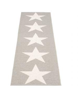 PAPPELINA - VIGGO ONE GRIS CHAUD/VANILLE Tapis design en plastique 4 tailles disponibles