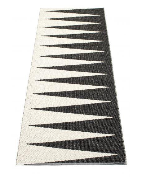 PAPPELINA - VIVI NOIR/VANILLE - Tapis design en plastique 4 tailles disponibles