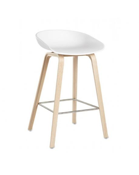 HAY - ABOUT A STOOL - AAS32 - Chaise design - Blanc (H 75cm)