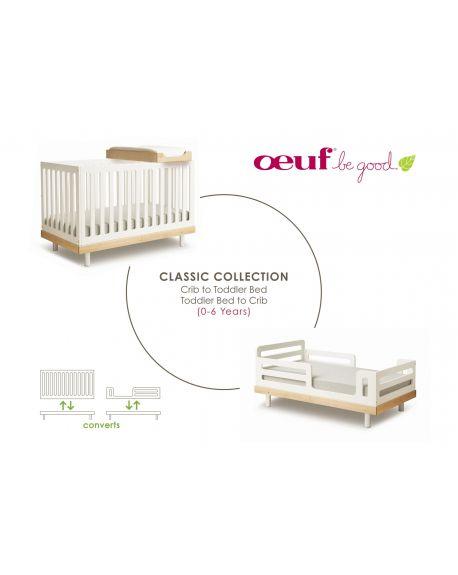 OEUF-CLASSIC Kit de conversion lit bébé vers lit junior Blanc / pour lit bouleau ou noyer