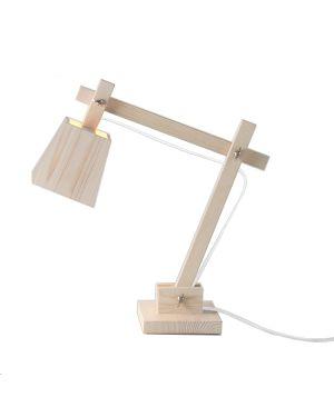 MUUTO-WOOD LAMP-Lampe de bureau design-Cordon blanc