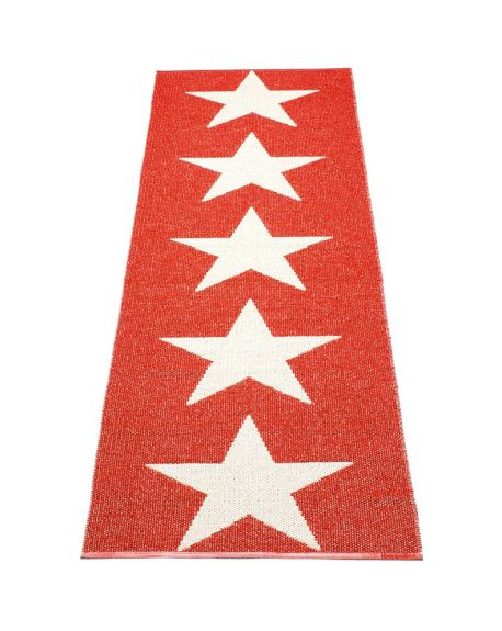 PAPPELINA - VIGGO ONE RED/VANILLA - Design plastic rug 4 sizes available
