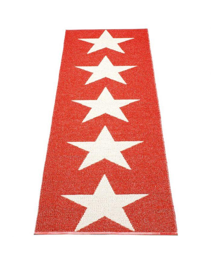 Pappelina viggo one rouge vanille tapis design en plastique 4 tailles dis - Tapis plastique enfant ...