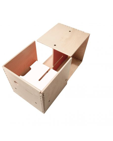 PERLUDI-MAX IN THE BOX-Meuble multifonction blanc