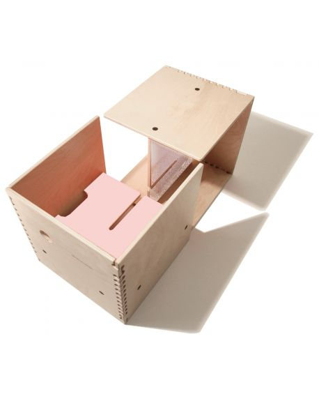 PERLUDI-MAX IN THE BOX-Meuble multifonction rose
