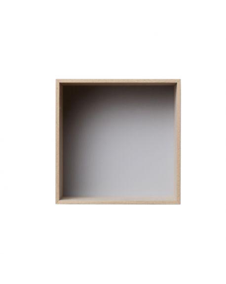 MUUTO STACKED - SHELVING UNIT - Ash with grey backboard
