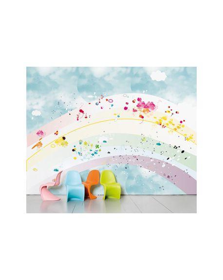 DOMESTIC - PANORAMIC WALLPAPER - Rainbow