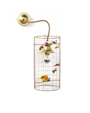 MATHIEU CHALLIERES - Wall light birdcage