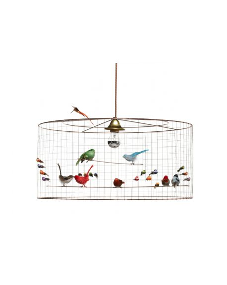 MATHIEU CHALLIERES - SUSPENSION Light semi-big birdcage