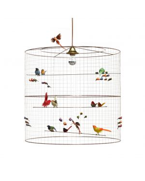 MATHIEU CHALLIERES, Suspension light big birdcage