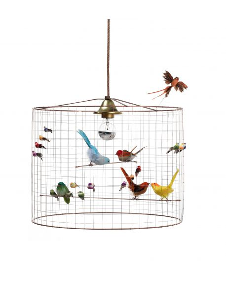 MATHIEU CHALLIERES, Suspension light small birdcage
